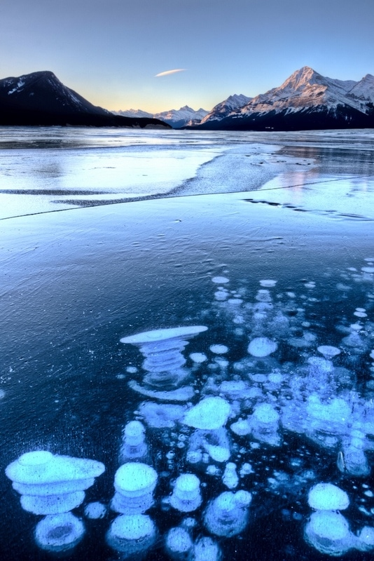 Alberta'a Abraham Lake