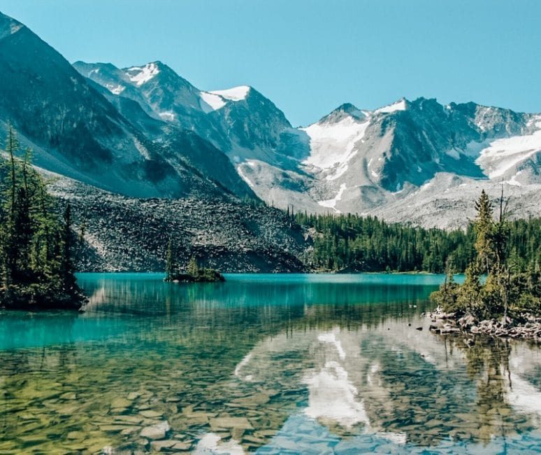Berg lake in Canada