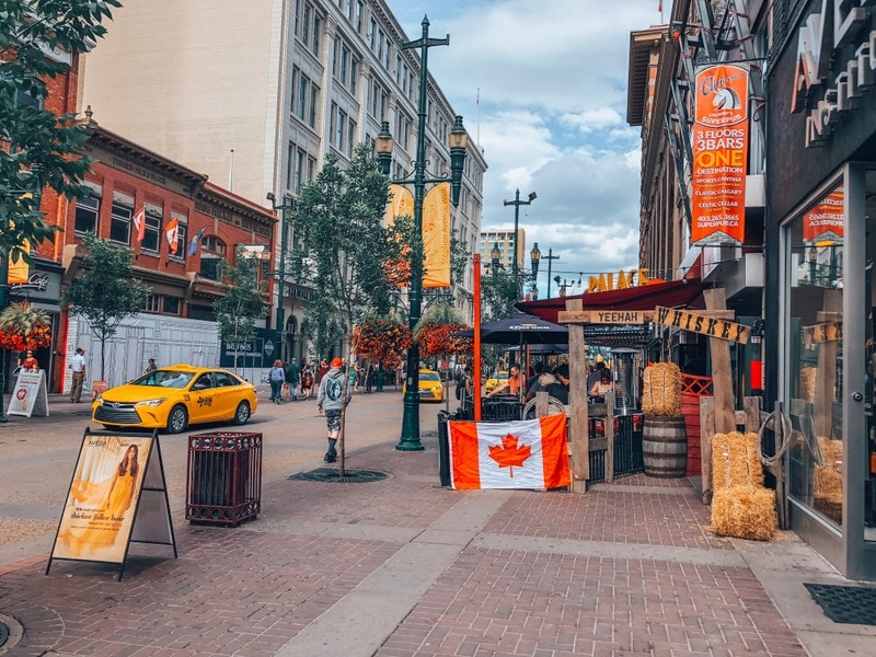 Restaurants in downtown Calgary
