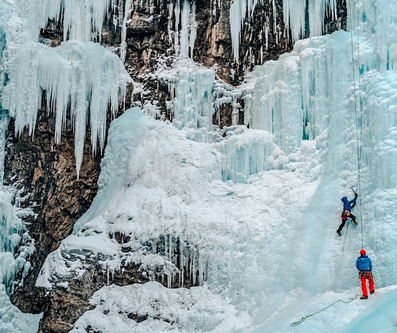 Johnston Canyon Hike In Winter