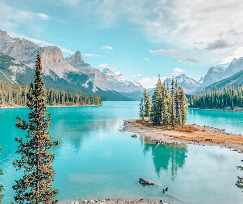 Lake Maligne Alberta Canada