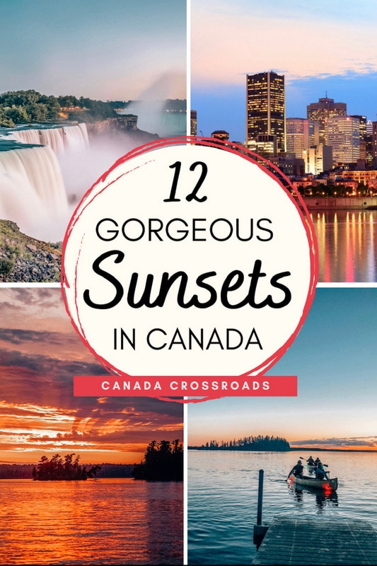 Sunset pictures from Canada travel guide | Beautiful places Toronto Banff national park Edmonton Prairies Montreal Vancouver city, national parks, and lakes & beach sunset photography #beautifulplaces #sunsets #canada