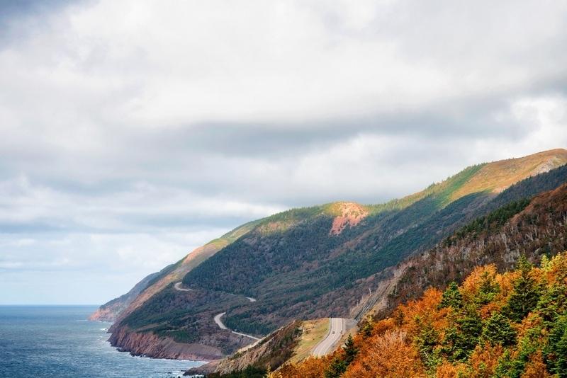 Cape Breton in Autumn in Canada