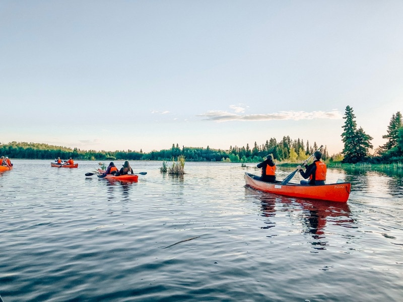 Elk Island National Park canoe tour in the fall
