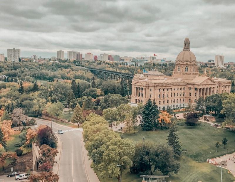 Early fall colors in Edmonton Alberta