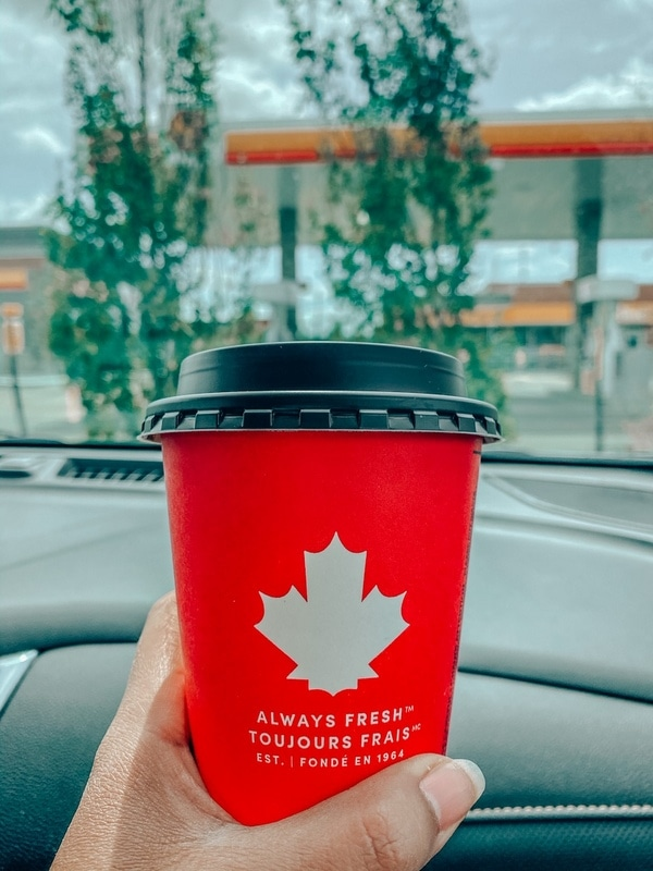 Tim Hortons Coffee on the go Road Trips Canada
