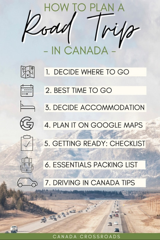 Guide and steps on how to plan a road trip in Canada