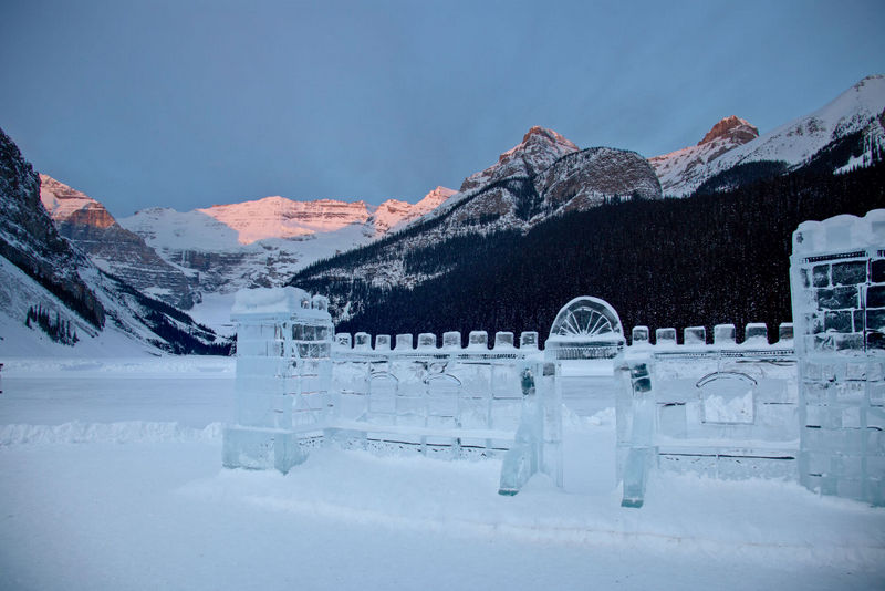 Sculptures in Lake Louise