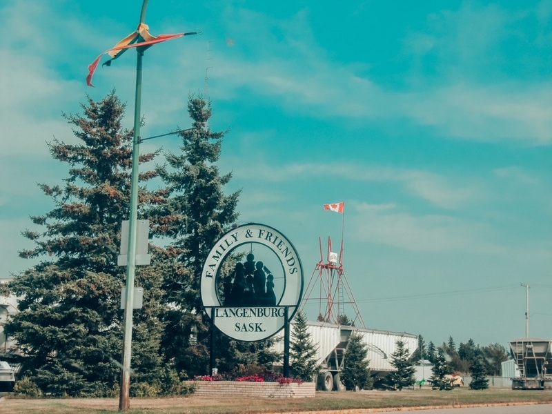 Langenburg - road trip from Saskatoon to Winnipeg