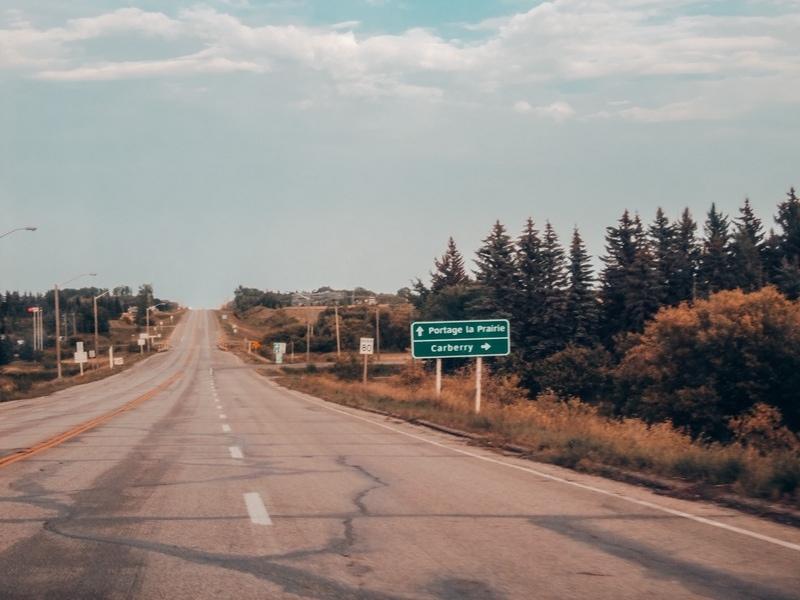 Enroute to Portage La Prairie road trip from Saskatoon to Winnipeg