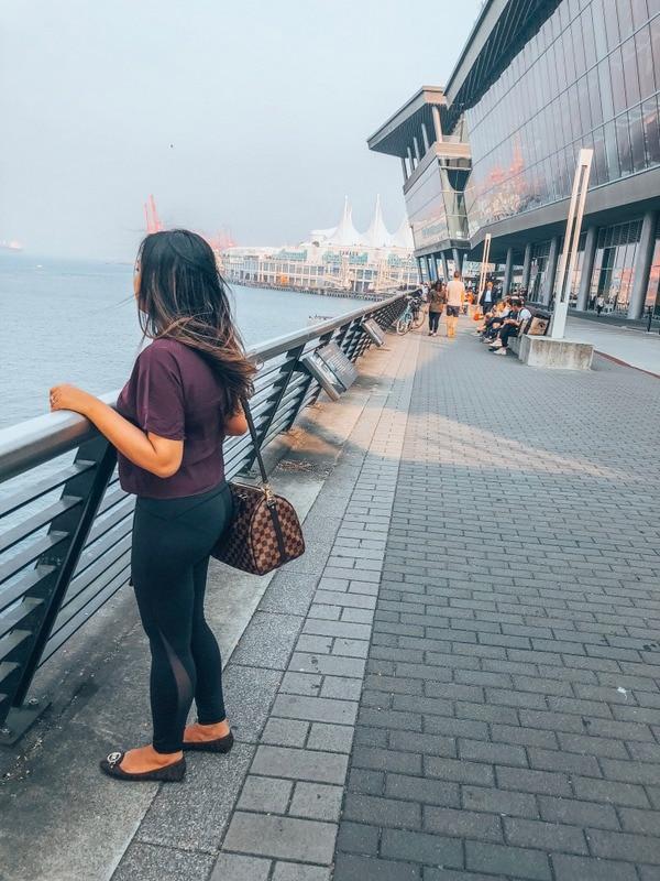 Girl wearing Lululemon Align Pant
