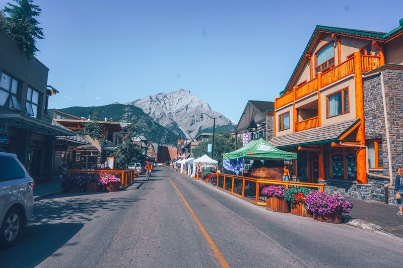 View of Banff town - Alberta towns