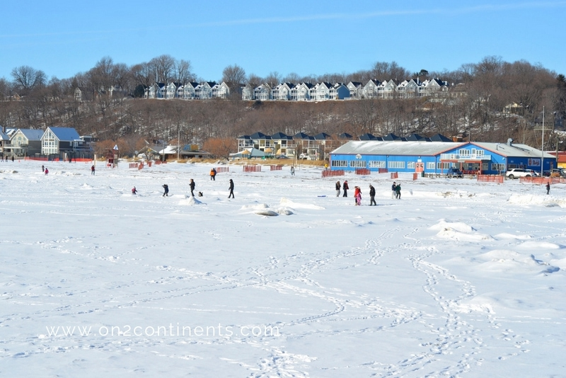 Frozen Lake Erie Canada winter destinations