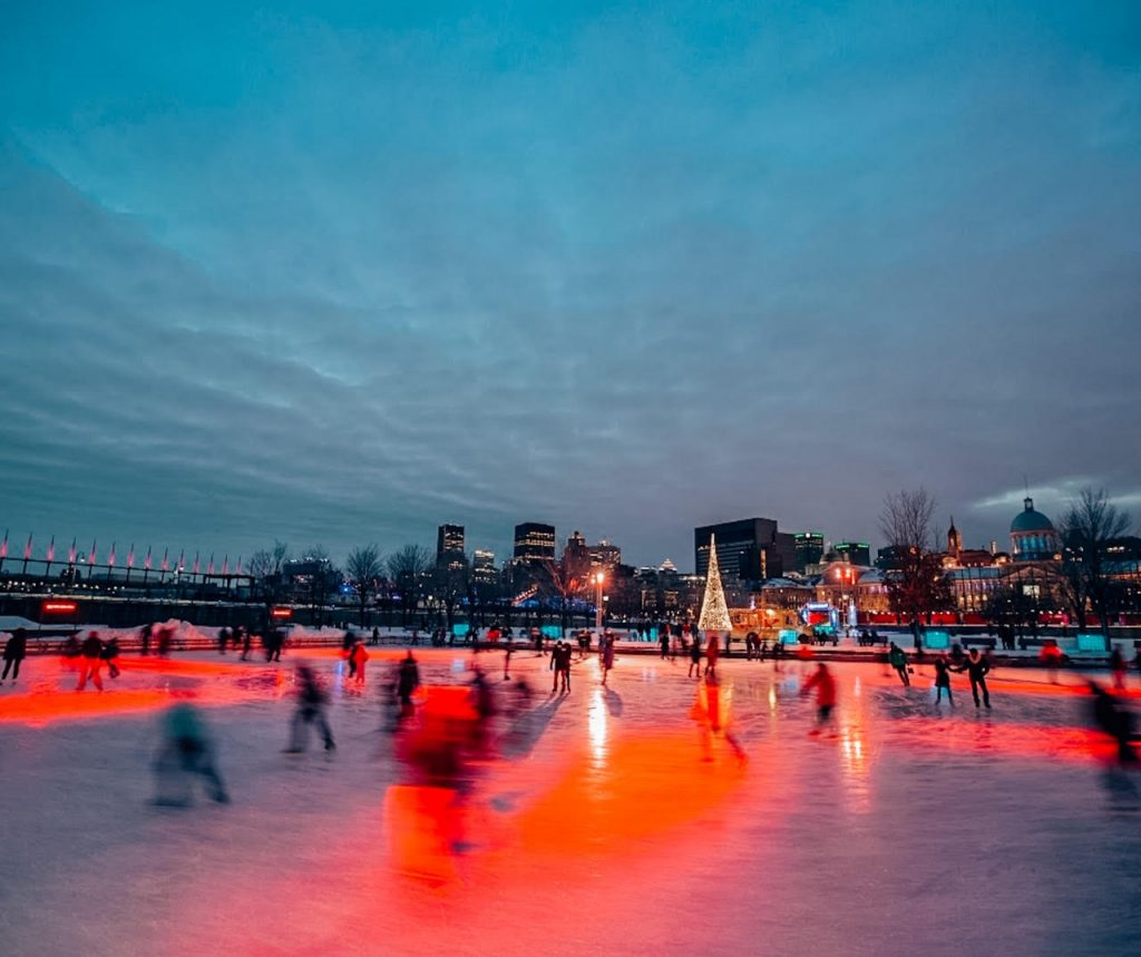Montreal winter skating