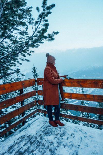 Banff Christmas Getaway on mountaintop