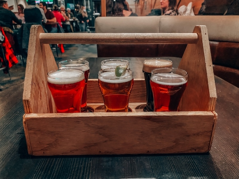 Delicious Beer Sampler at the Jasper Brewing Co