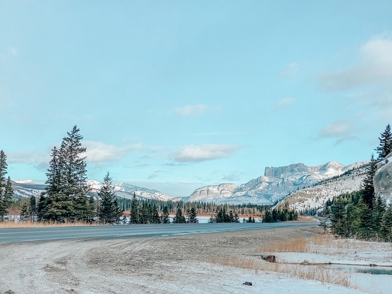 Mountain views in Jasper
