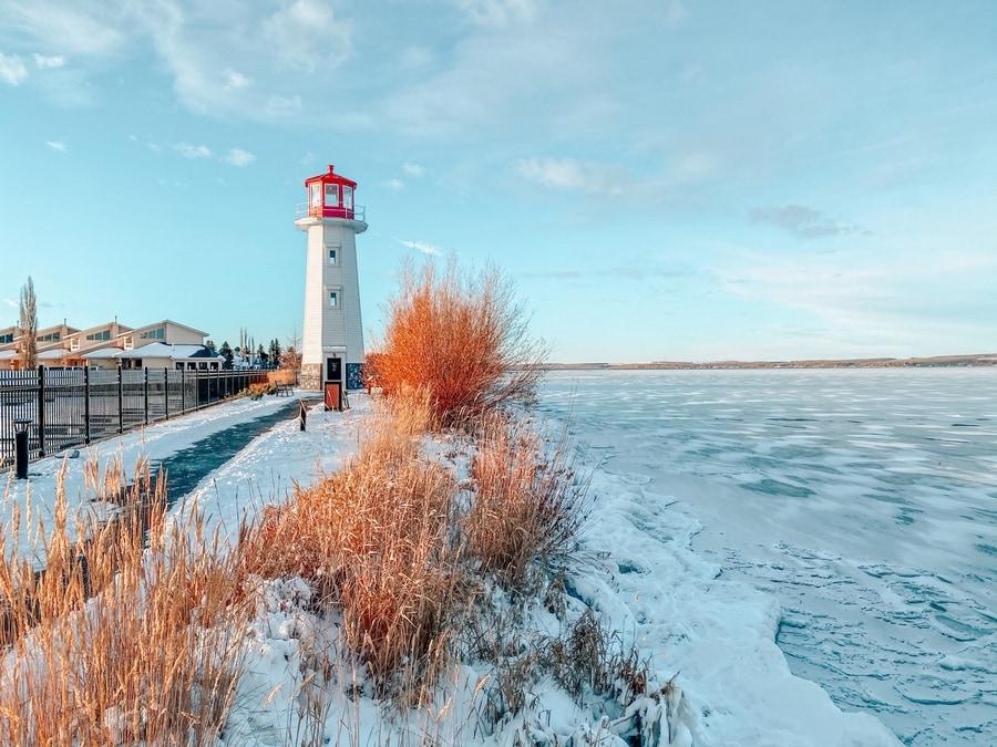 Sylvan Lake Alberta winters