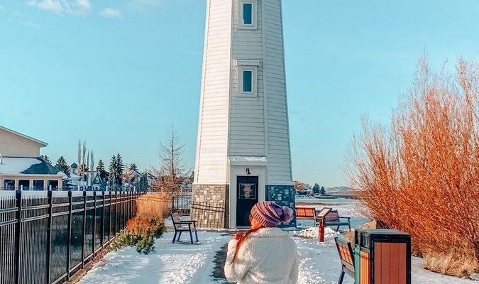 Lighthouse in Sylvan Lake Alberta