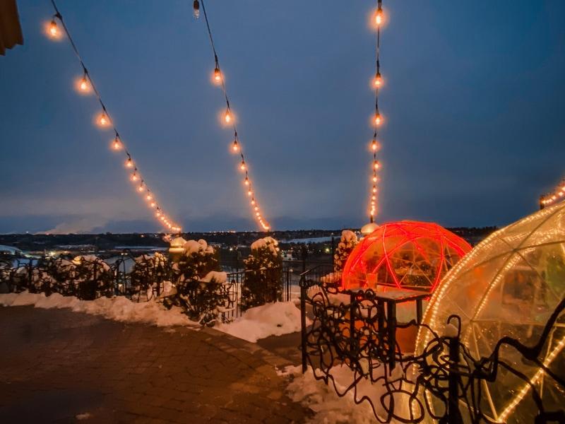 Winter Igloos - Riverside Bistro Edmonton