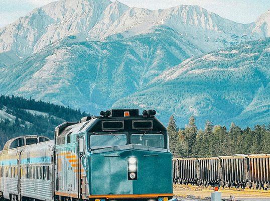 Trains take you from Edmonton to Jasper