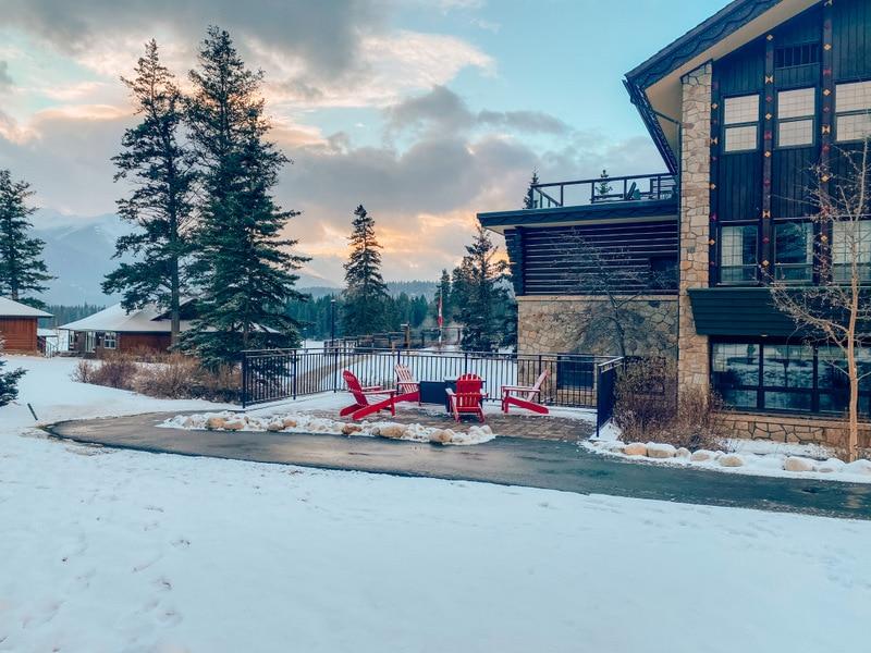 Fairmont Jasper Lodge in winter