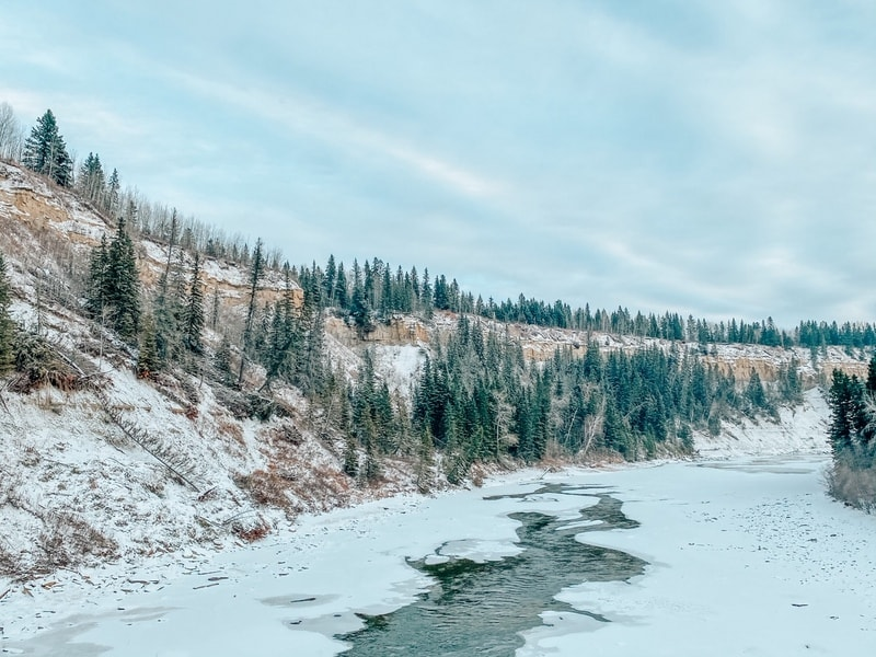 Pembina River in the winter