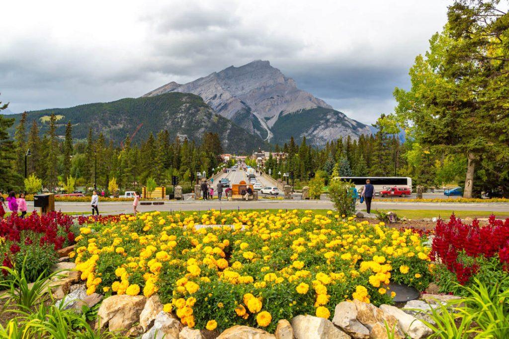 Springtime in Banff Cascade Gardens