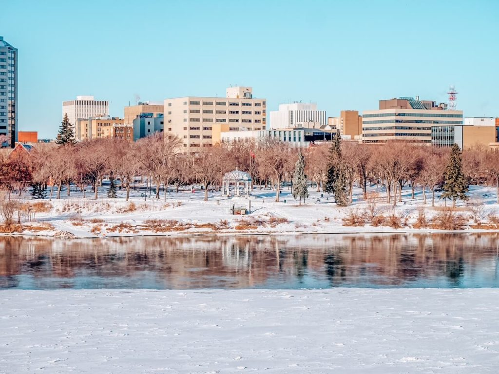 Downtown Saskatoon in winter