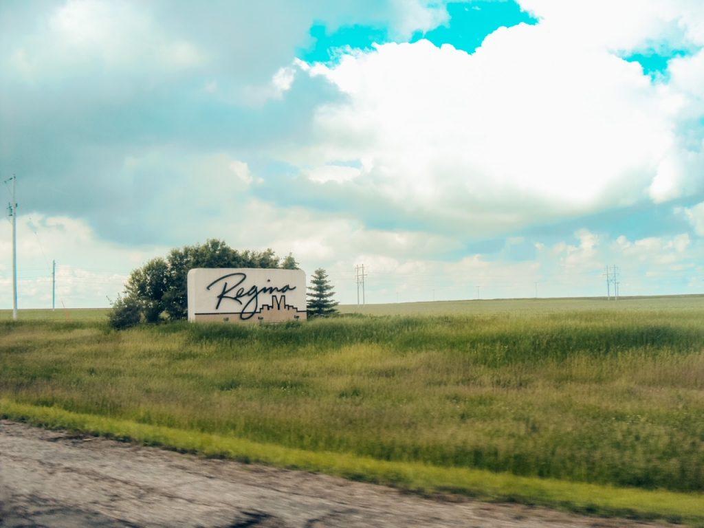 Regina arrival sign