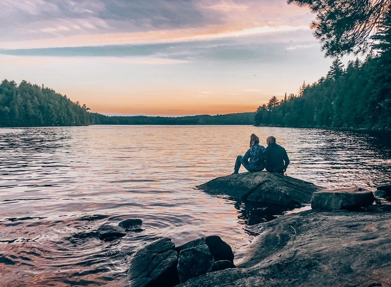 Algonquin Provincial Park sunset views at the Beaver Pond Trail