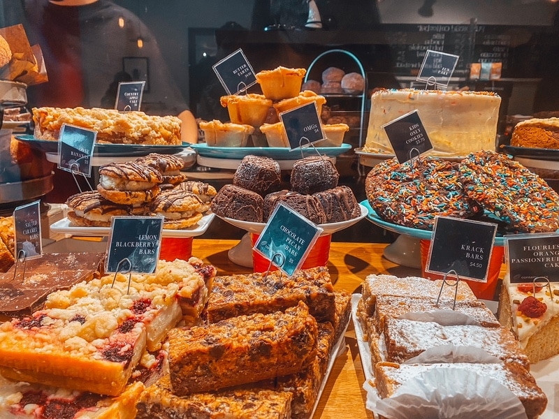 Delicious sweet treats at Pure Bread Whistler