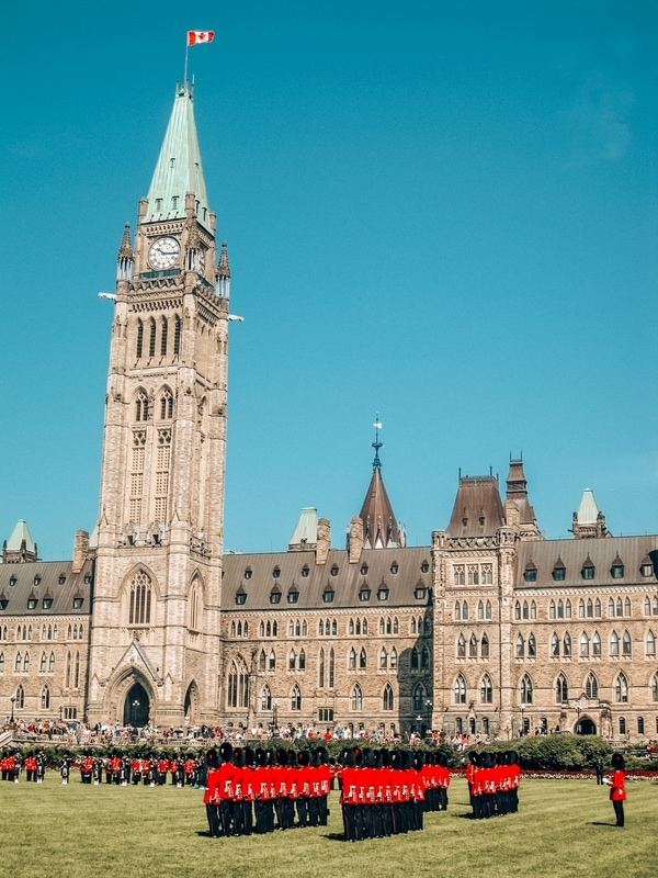 Change of guards in Ottawa - Canada interesting facts