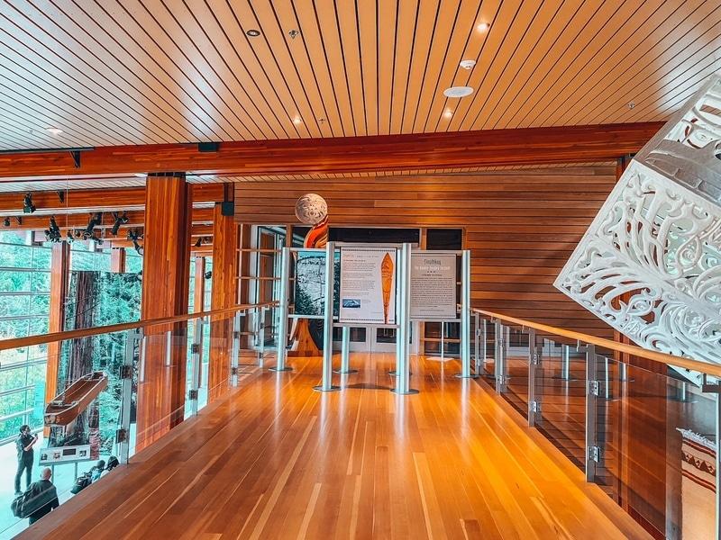Inside quamish Lil'wat Cultural Centre Whistler