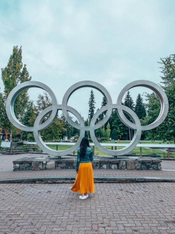 Girl at the Olympic Rings Whistler